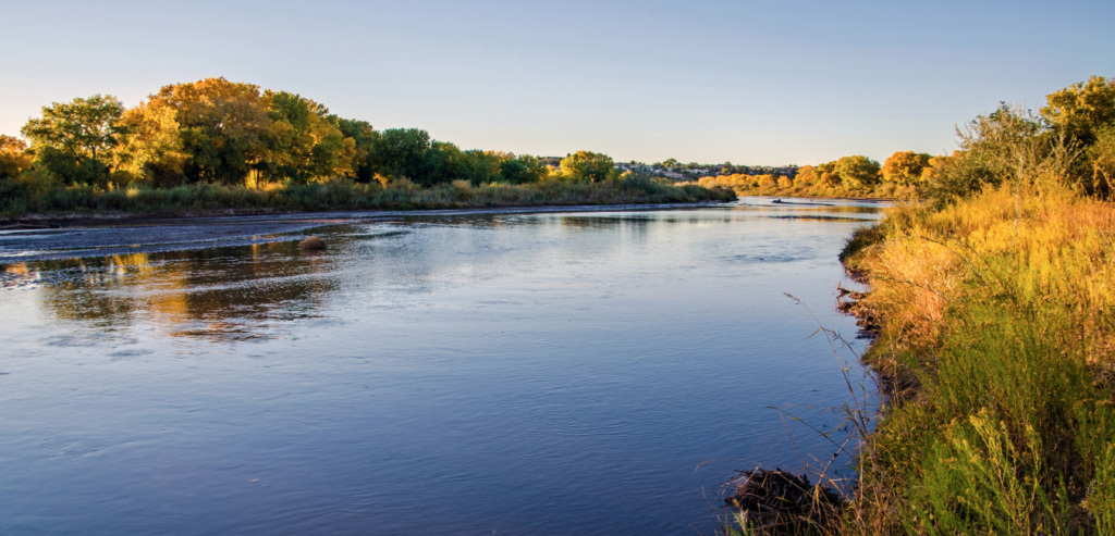 Rio Grande River, Changing leaves in Fall